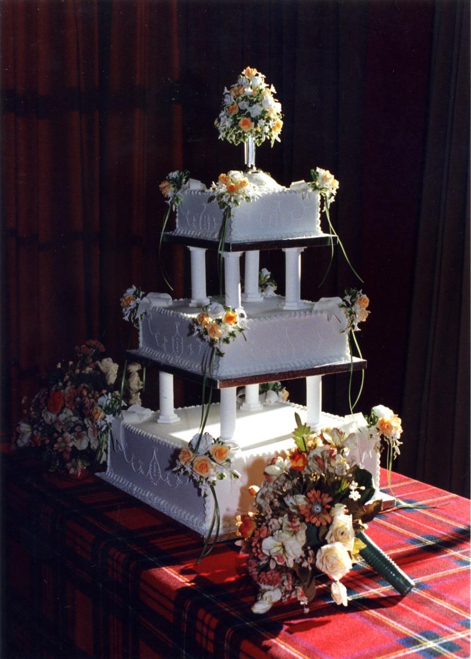 wedding, cake, bridal